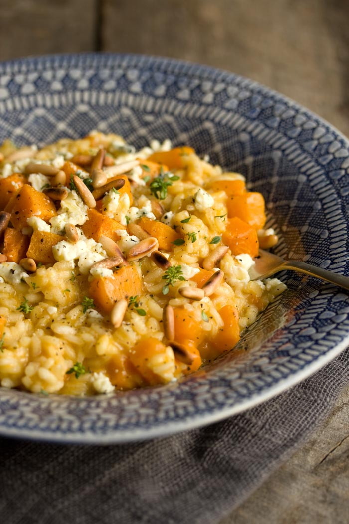 Roasted Pumpkin Risotto With Blue Cheese And Toasted Pine