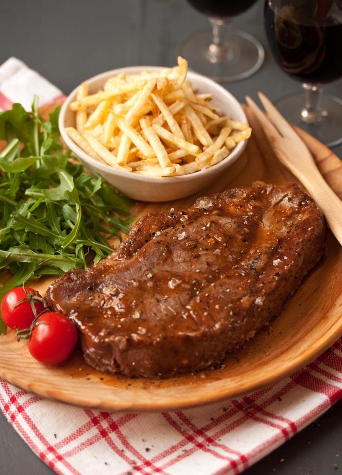plank grilled sirloin steak