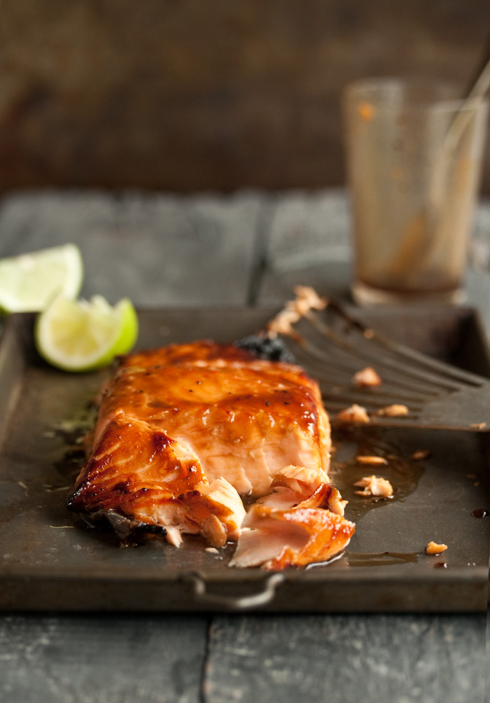 grilled salmon with a miso honey glaze | Drizzle and Dip