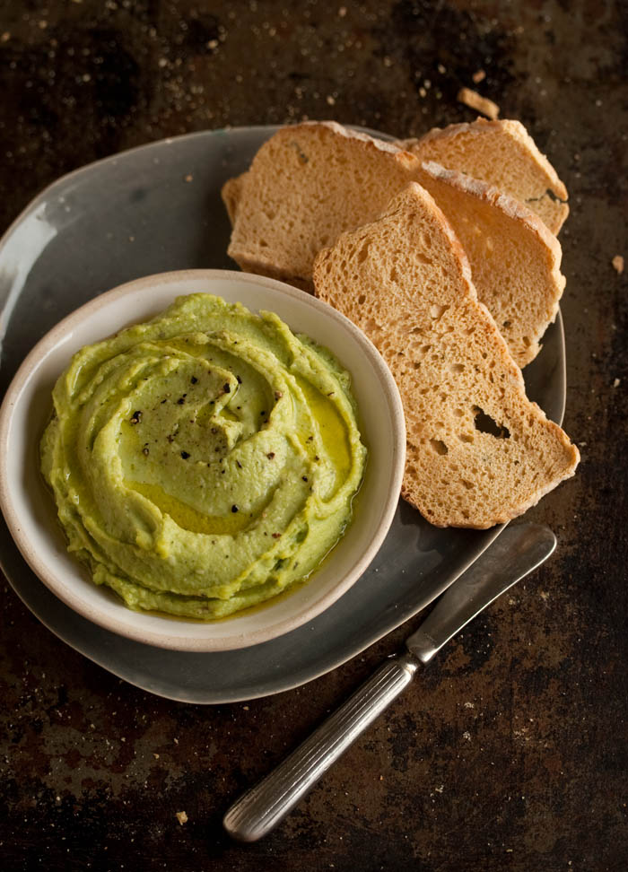 broad bean or fava bean dip
