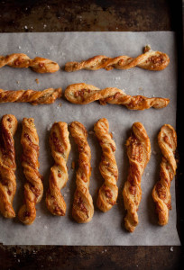 cheese straws with parmesan and rosemary