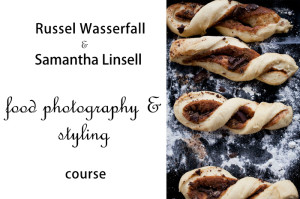 Russel Wasserfall and Samanta Linsell Food photography and styling course