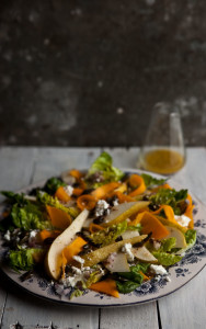 ts cheese salad with honey pumpkin seeds