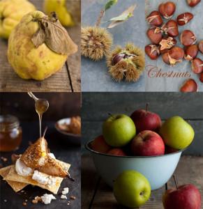 autumn food collage