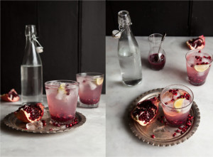 pomegranate and ginger spritzer