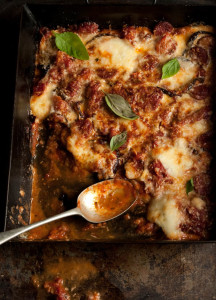 melanzane di parmigiana with chorizo