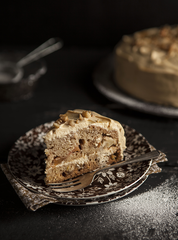 apple cake with maple cream cheese frosting
