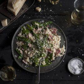 pea and gammon risotto