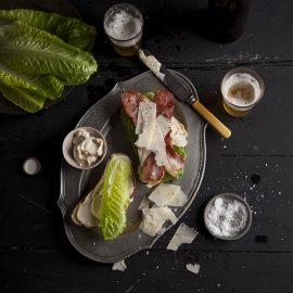 turkey caesars club sandwich