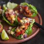 Lettuce tacos with a spicy pineapple salsa recipe
