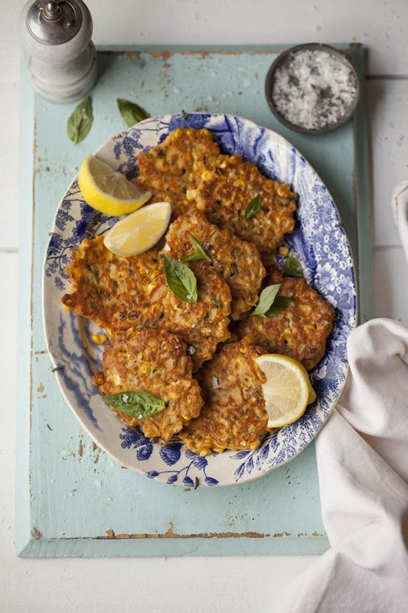 corn-fritters-with-basil-chilli