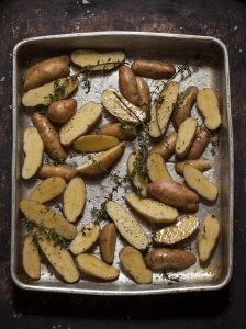 fingerling new potatoes and thyme