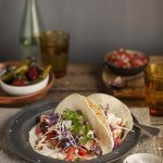 Salmon tacos with a spicy coffee rub recipe