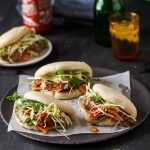 gua bao with hoisin and ginger pulled pork