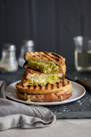 leek and cheese toasted sandwich