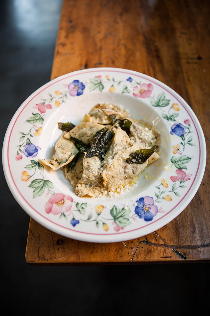 ravioli with crispy sage and butter