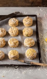 how to make butternut scones with cheese and chives