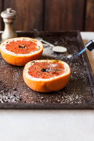 grapefruit brûlée with black pepper