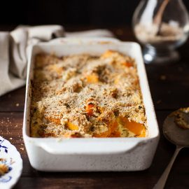 roasted pumpkin and ricotta gratin