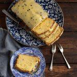 passion fruit curd loaf cake