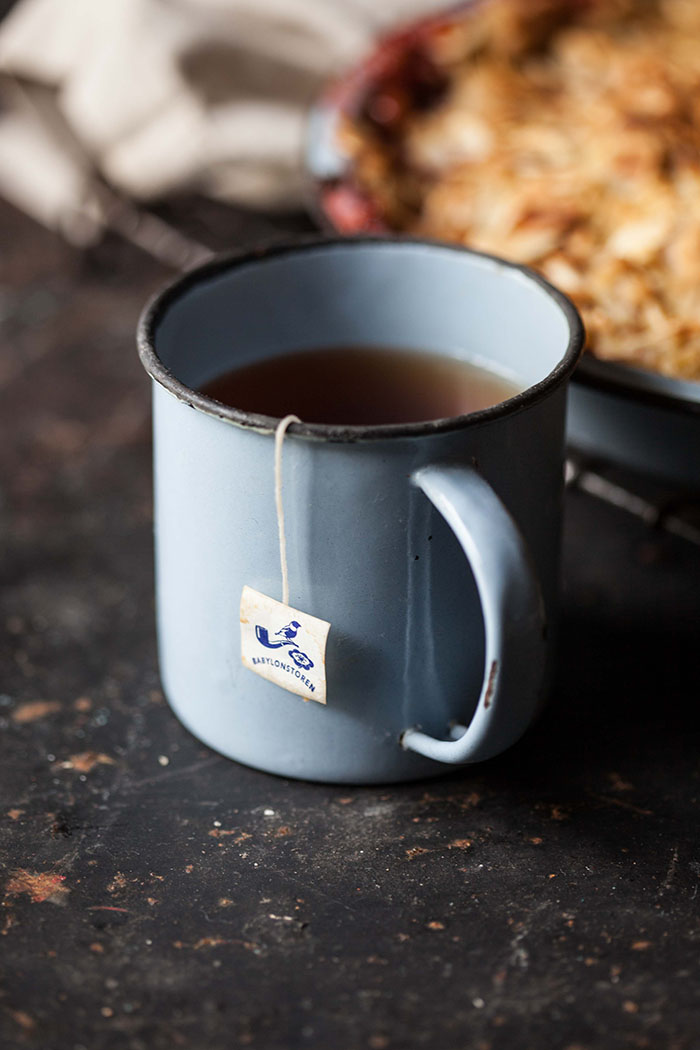 a mug of rooibos tea