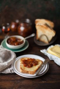peach jam with red muscadel