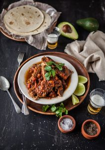Slow cooker braised short ribs with Mexican flavours