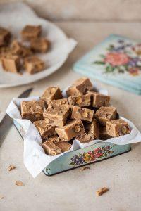 classic fudge with vanilla and chocolate malted balls