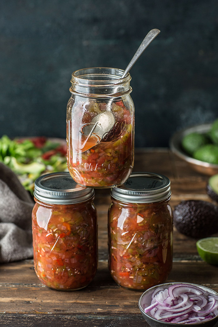 Zesty home made and preserved salsa