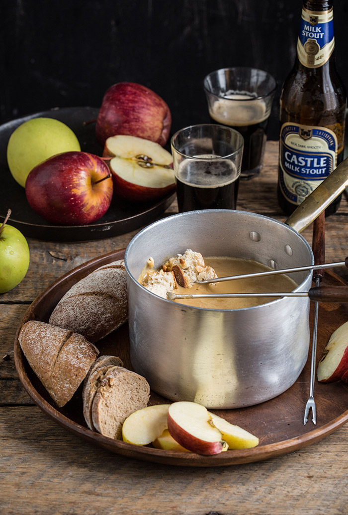 cheddar and stout fondue