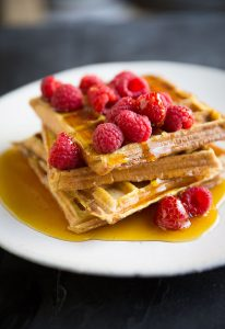 french toast waffles with cinnamon