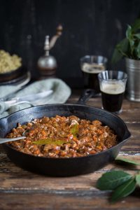 stout beef and mushroom stew