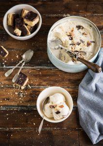 millionaire's shortbread ice cream