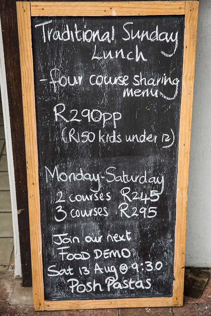 Sunday roast at Bertas Basson at the Spice Route , Paarl