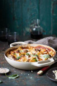meatball and spinach ravioli bake