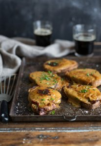 A delicious stout Welsh rarebit with bacon