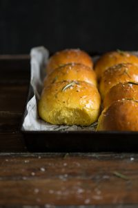 Easy pumpkin rolls with rosemary and sea salt