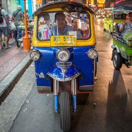 a tuk tuk in Bangkok, Thailand