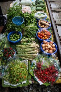 Maeklong Railway Market near Bangkok, Thailand