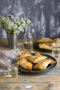 Corn & cheese phyllo pies