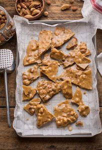 spicy buttercrunch brittle with roasted nuts