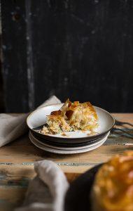 chicken pie with ricotta spinach