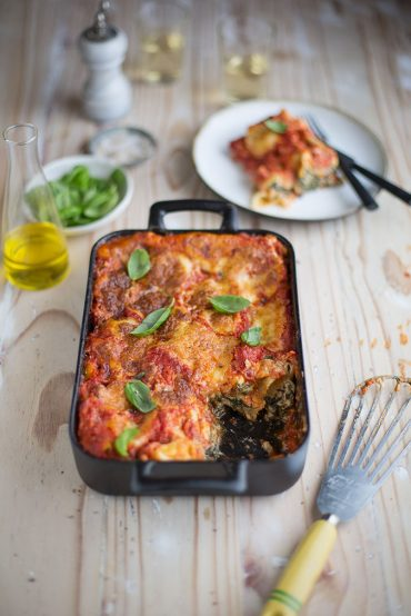 spinach & ricotta cannelloni bake