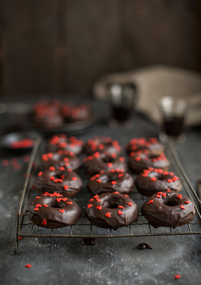 baked chocolate doughnuts with stout