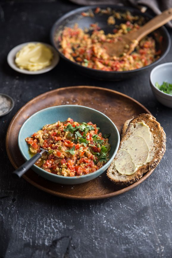how to make menemen the most delicious turkish scrambled eggs recipe
