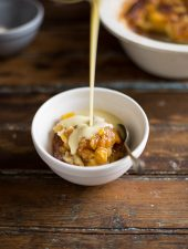 sticky mango pudding with coconut custard by bill granger