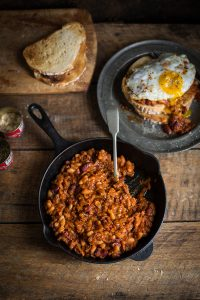 home made chipotle baked beans