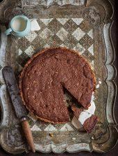 Decadent chocolate & pine nut tart
