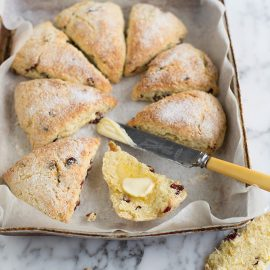 Quick and easy cranberry & orange scones