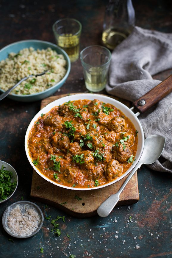 Goan meatball curry with cauliflower rice